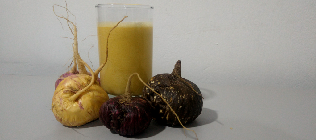 Raw whole fresh maca juice. Obtaines directly from the fresh root.